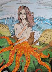 Octopus mermaid by BehindMusgo