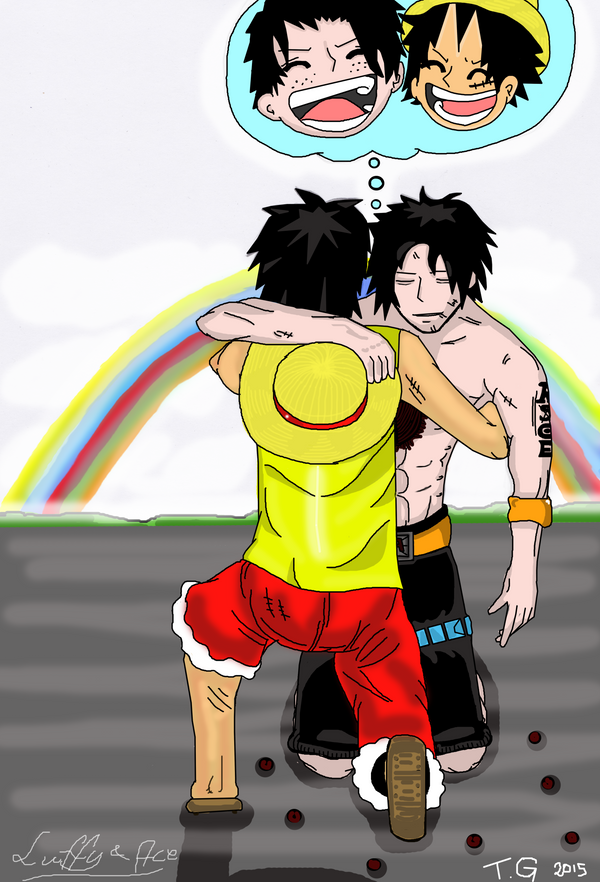 Monkey D Luffy and Portgas D Ace by probarbarian on DeviantArt