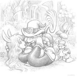 Snugglebunny in Faerie by Grigbertz