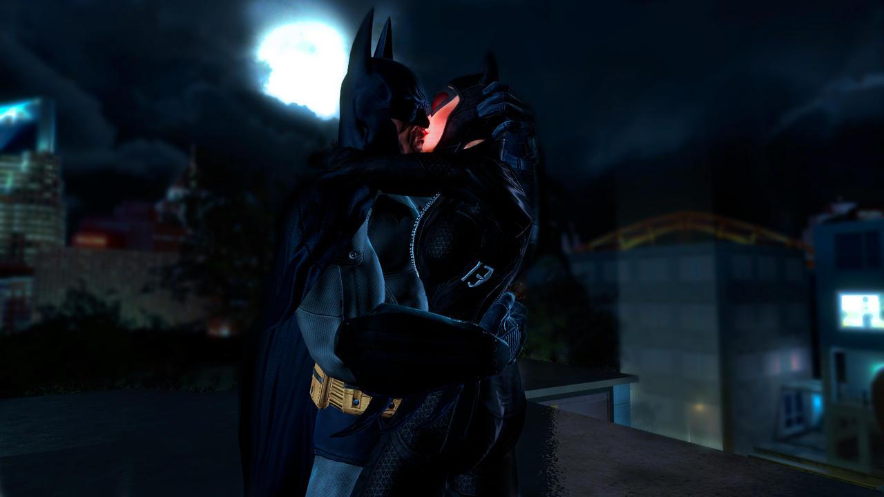 Batman Catwoman Kiss Wallpaper