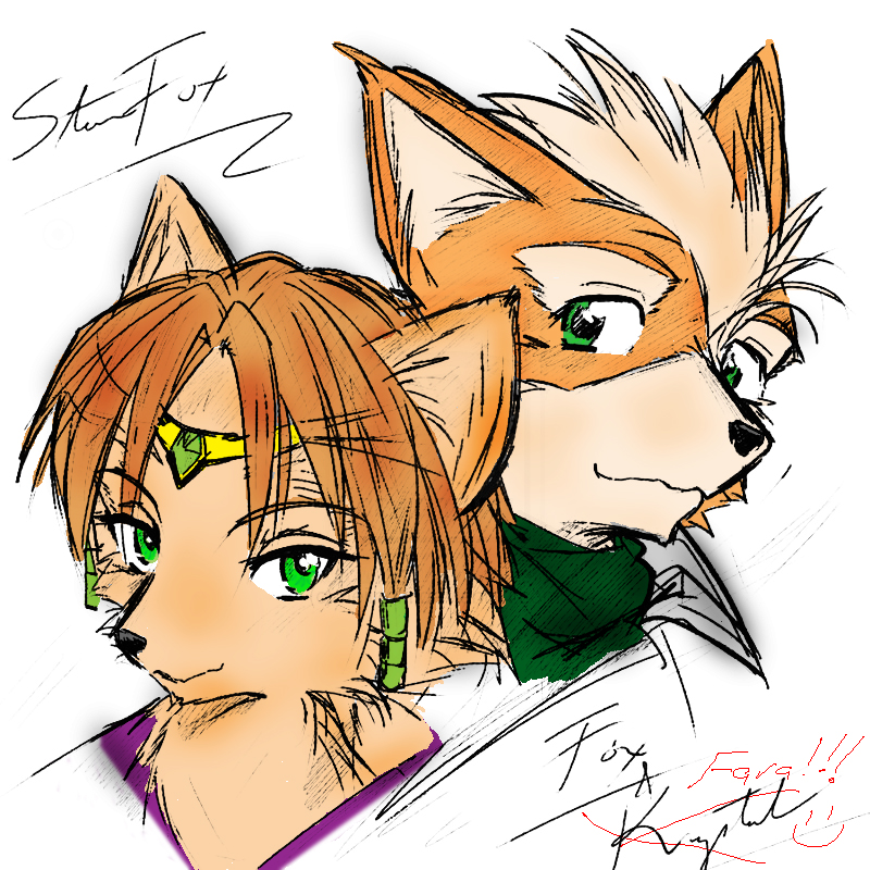 Fox and Fara- COLORED by Janus3003