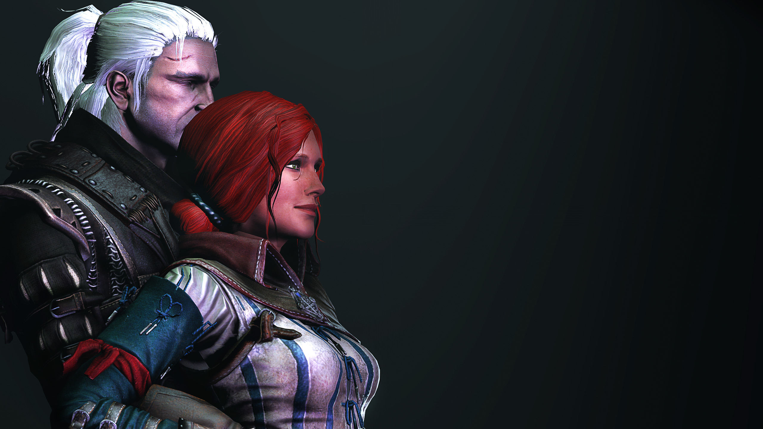 Geralt and Triss by Janus3003