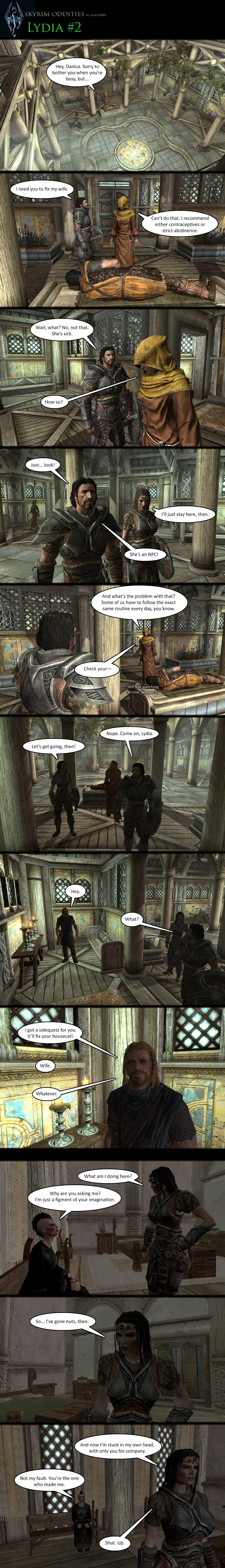 Skyrim Oddities: Lydia #2 by Janus3003 on DeviantArt