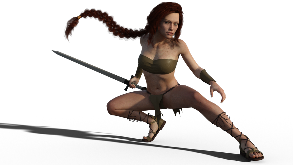 Swordswoman Concept1 by Janus3003