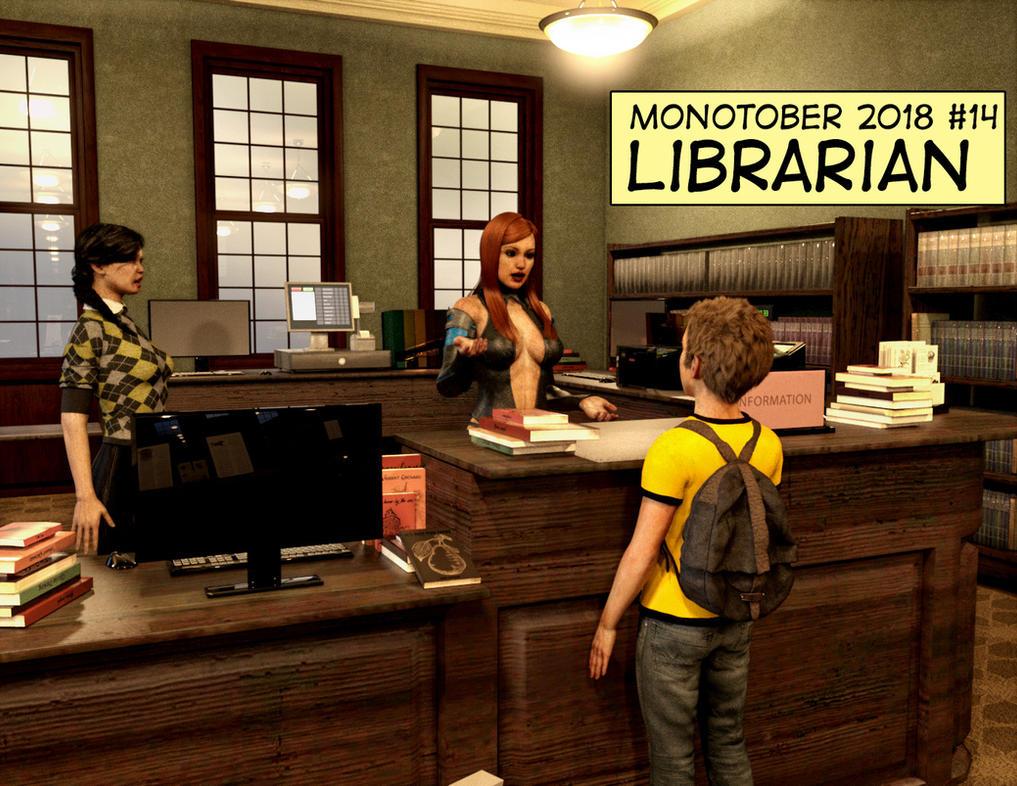 Monotober 2018 #14 - Librarian by Janus3003