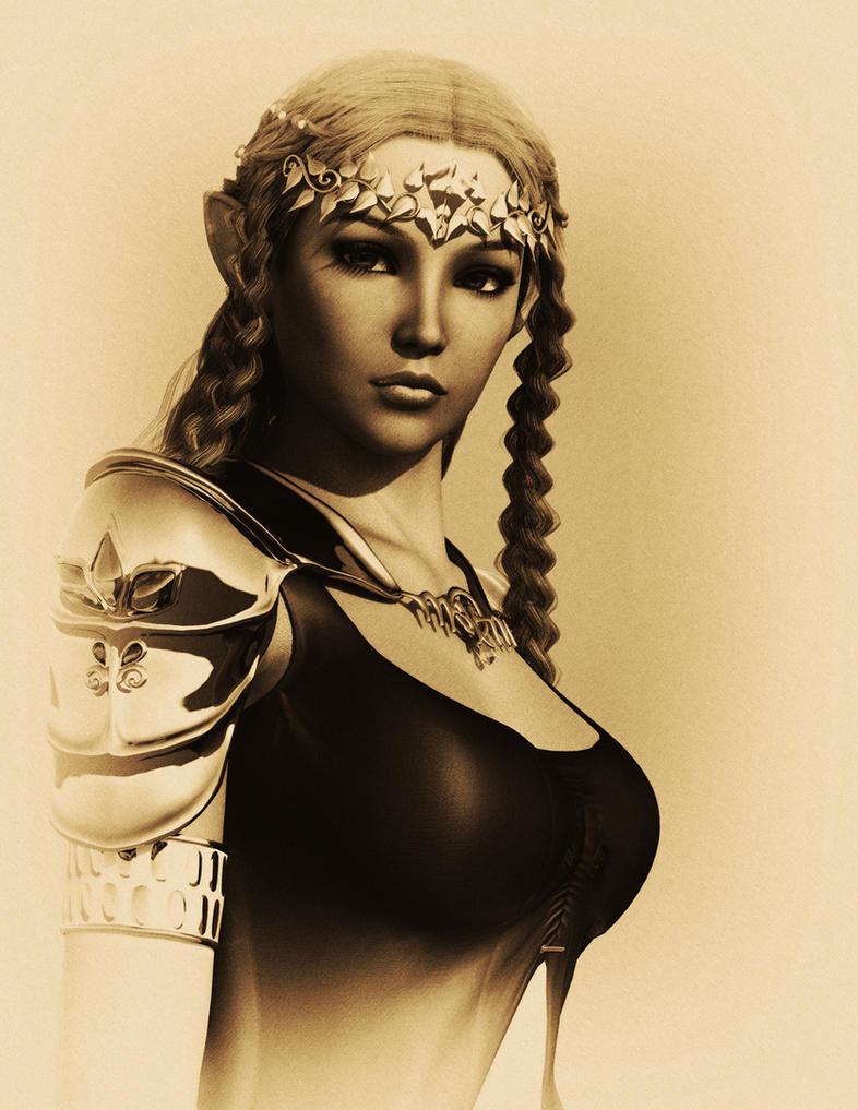 Princess Zelda - Charcoal Edition by Janus3003