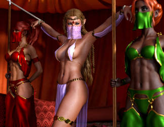 Slave Zelda on Display