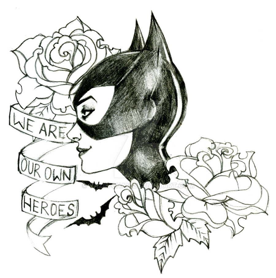 UncleRelic 1 0 Catwoman Tattoo Design By Yazie Chan
