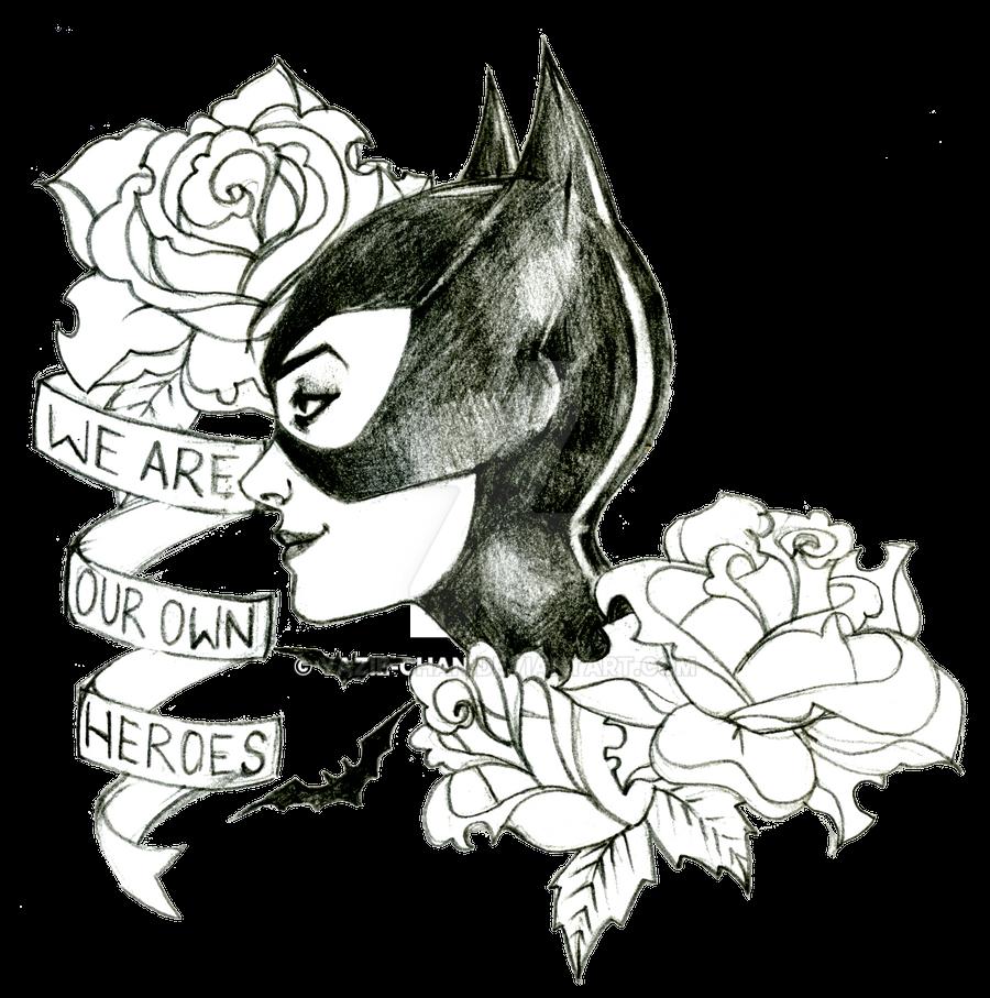 Catwoman Tattoo Design By Yazie Chan On Deviantart