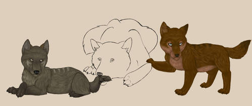 Puppies by ValitaTheWolf