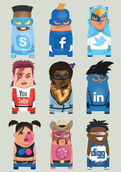 Themartist social icons