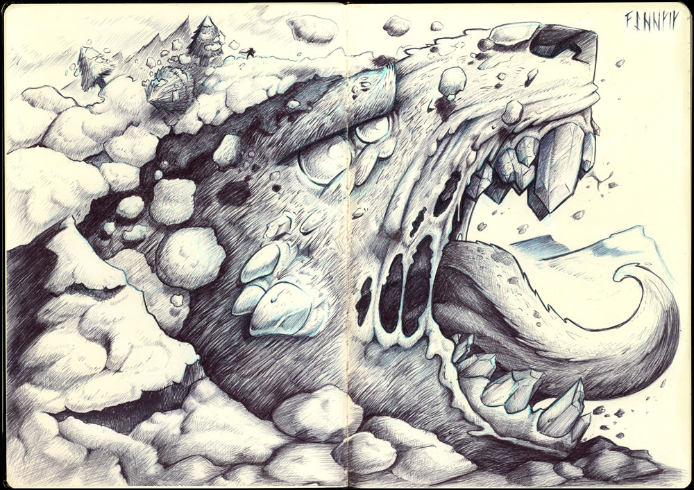 Moleskine: Fenrir by Ben-G-Geldenhuys
