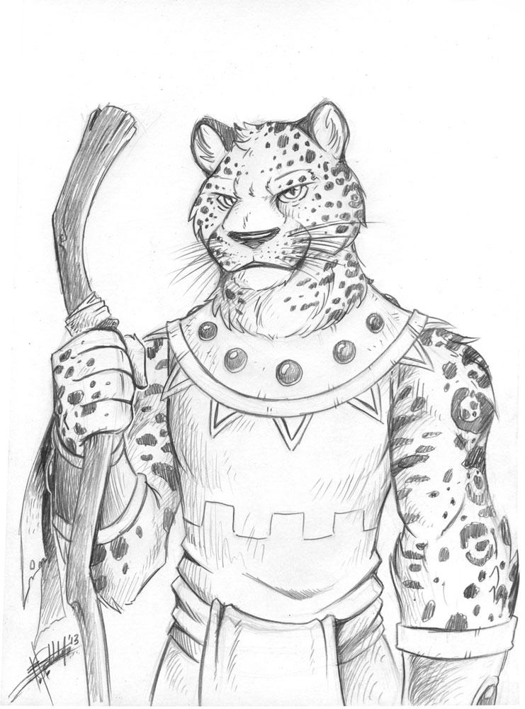 Doodle: Spotted Jaguar by Ben-G-Geldenhuys