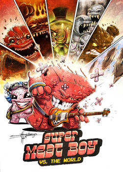 Mashup: Super Meat Boy vs. The World - Coloured