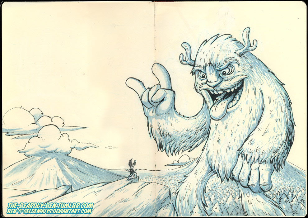 Moleskine: Shredding with the Frost Giant by Ben-G-Geldenhuys