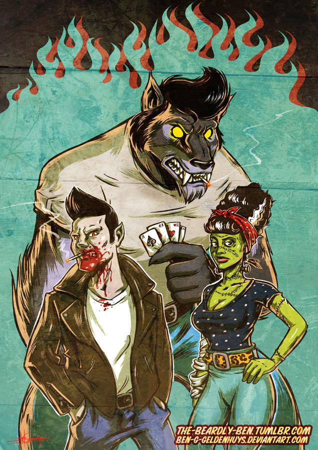Rockabilly Monster Mash by Ben-G-Geldenhuys