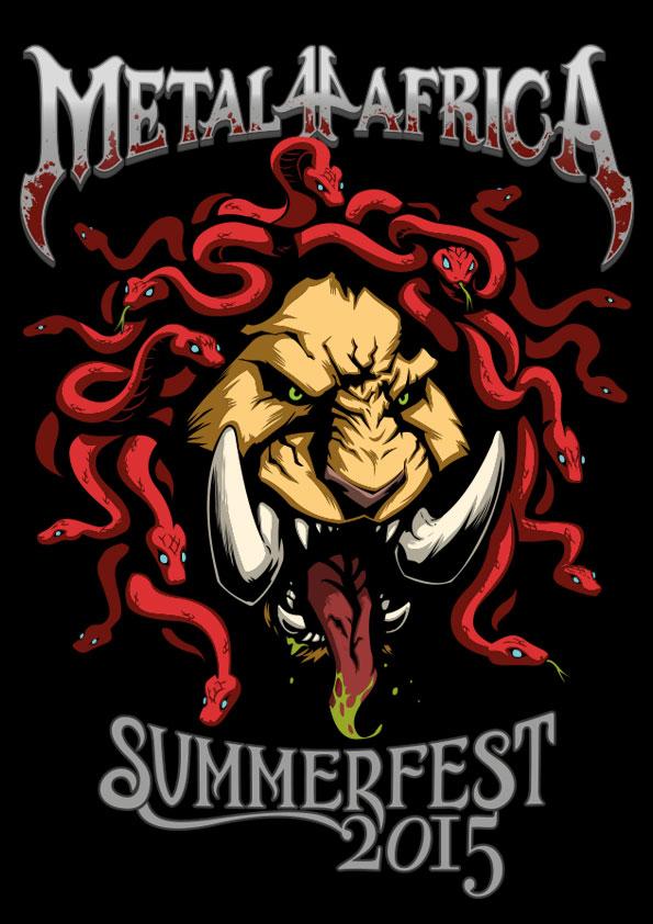 Metal4Africa - Summerfest 2015 design by Ben-G-Geldenhuys