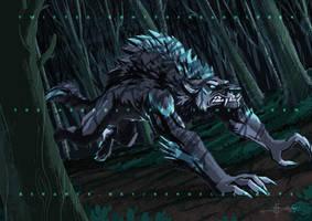 The Vegan Werewolf Commission - 2018 by Ben-G-Geldenhuys
