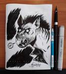 Werehyena Sketch - 2018