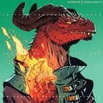 Dragonborn Sorcerer Bust Commission - 2019