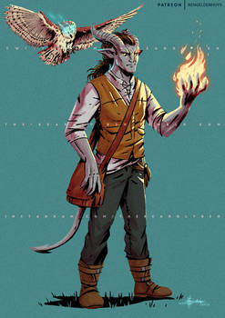 Dimitri - Tiefling Wizard Commission - 2020