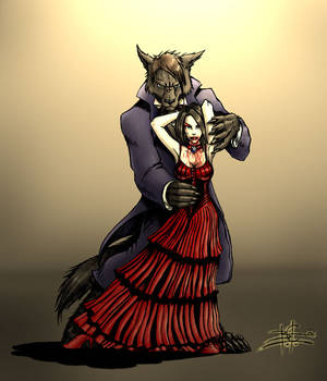 Werewolf and vampire by Ben-G-Geldenhuys