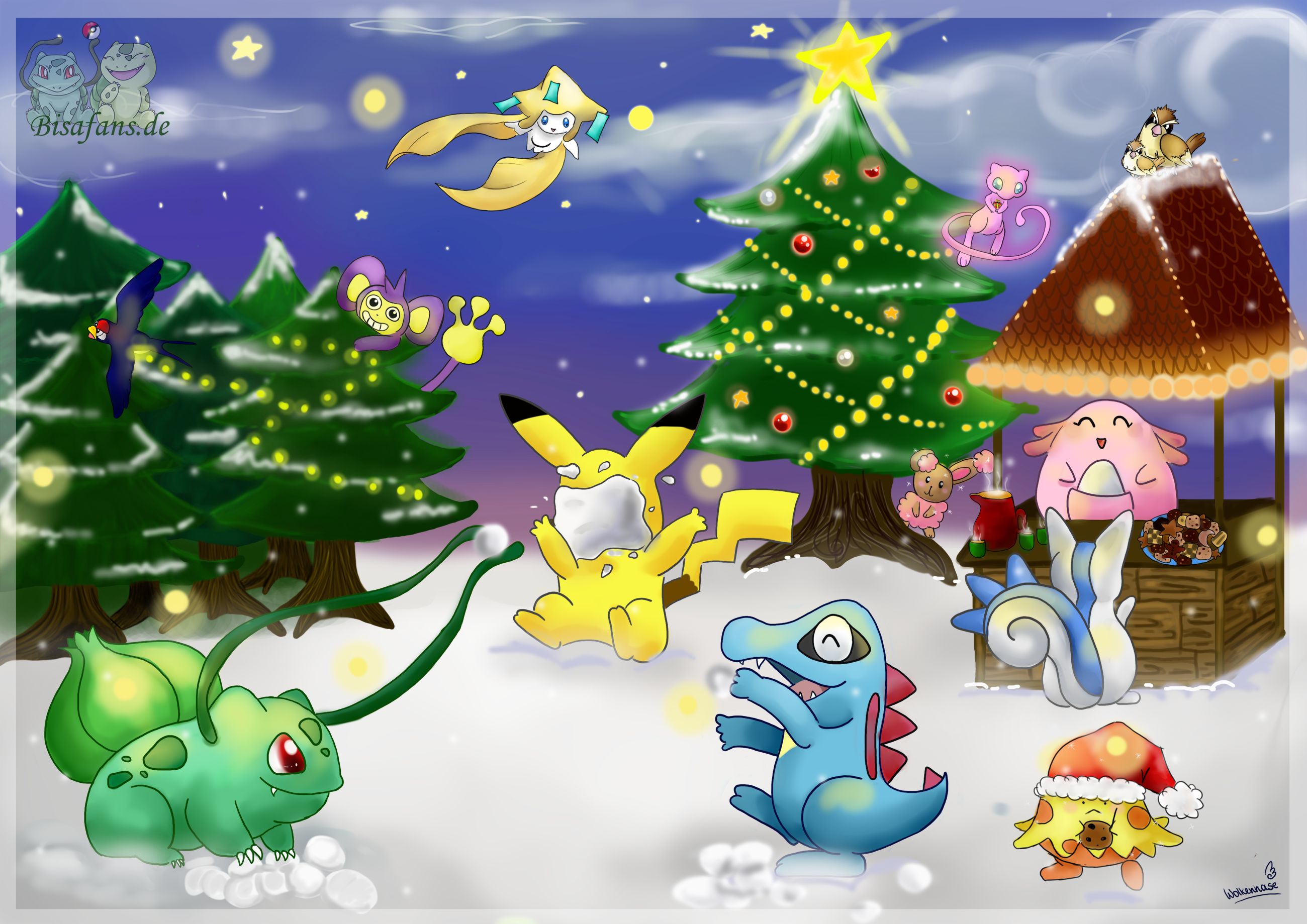 my wallpaper for the holidays pokemon
