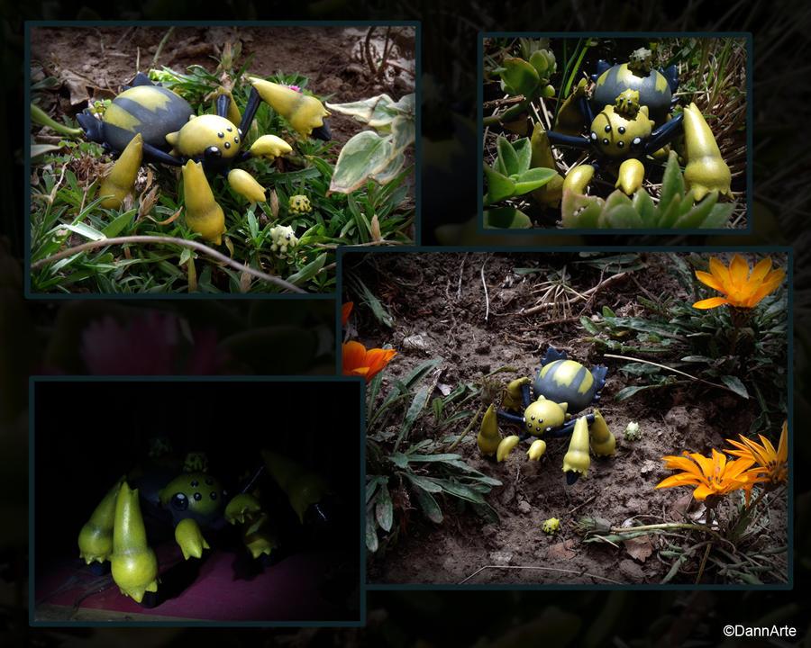 Shiny Galvantula in the Wild by DannArte