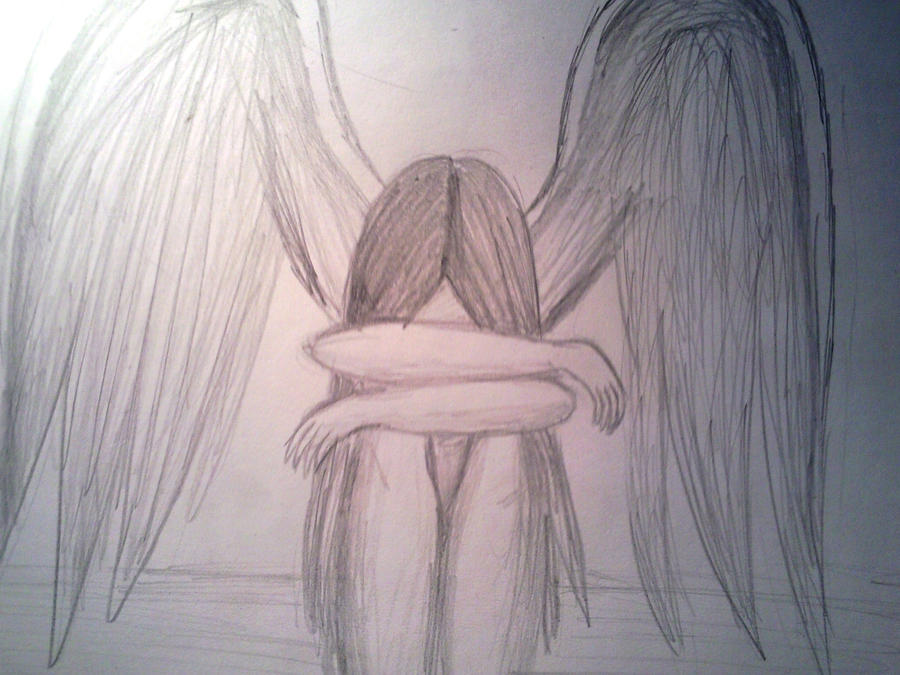depressed angel drawings - photo #1