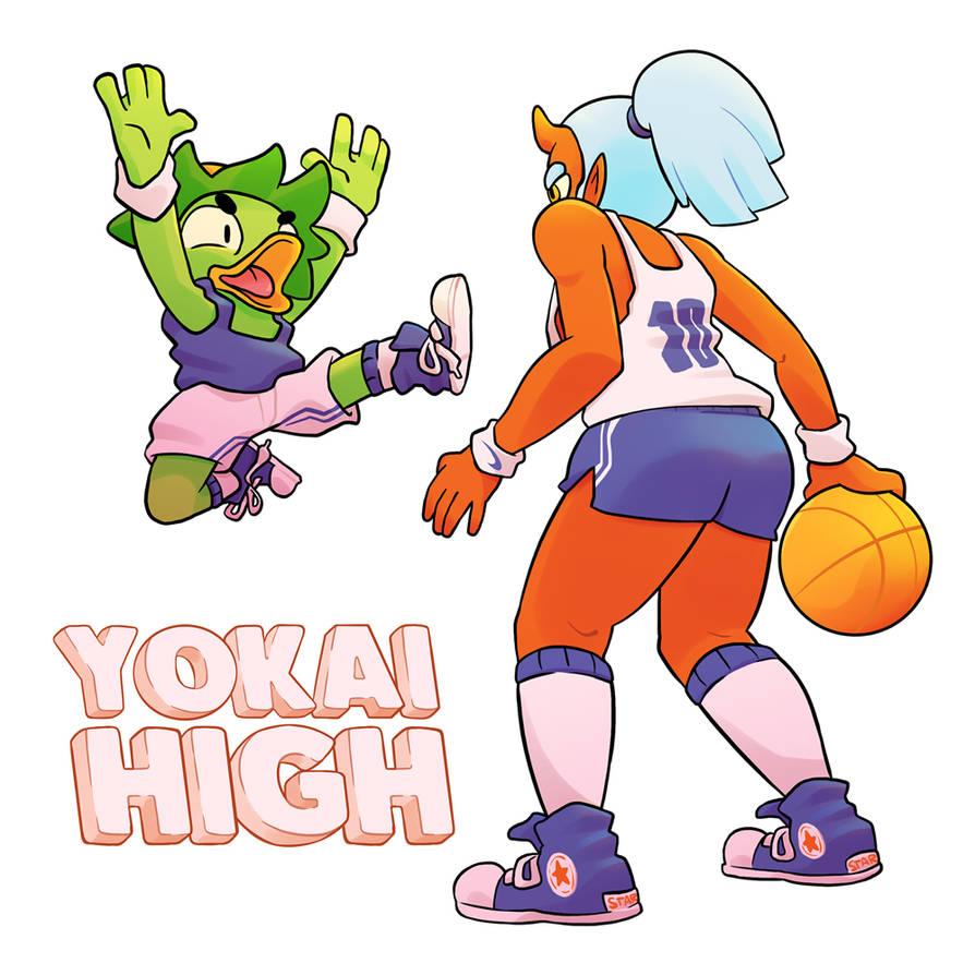 Yokai High Basketball.