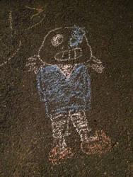 Sans made of chalk
