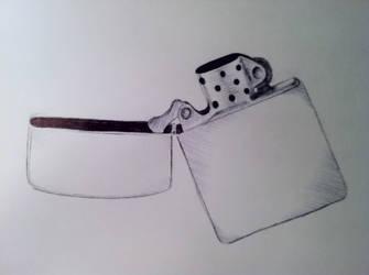 Zippo Pen Sketch by FalloutLuver13
