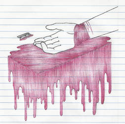 Slit Wrist Study by FalloutLuver13
