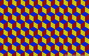 Rubik's Cube Illusion Wallpaper