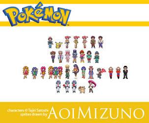 Pokemon Sprites by AoiMizuno