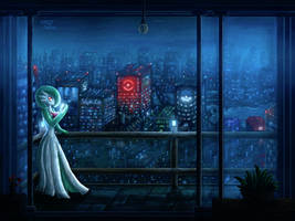 Late Nights and Neon Lights (3DS Art) by CritCorsac
