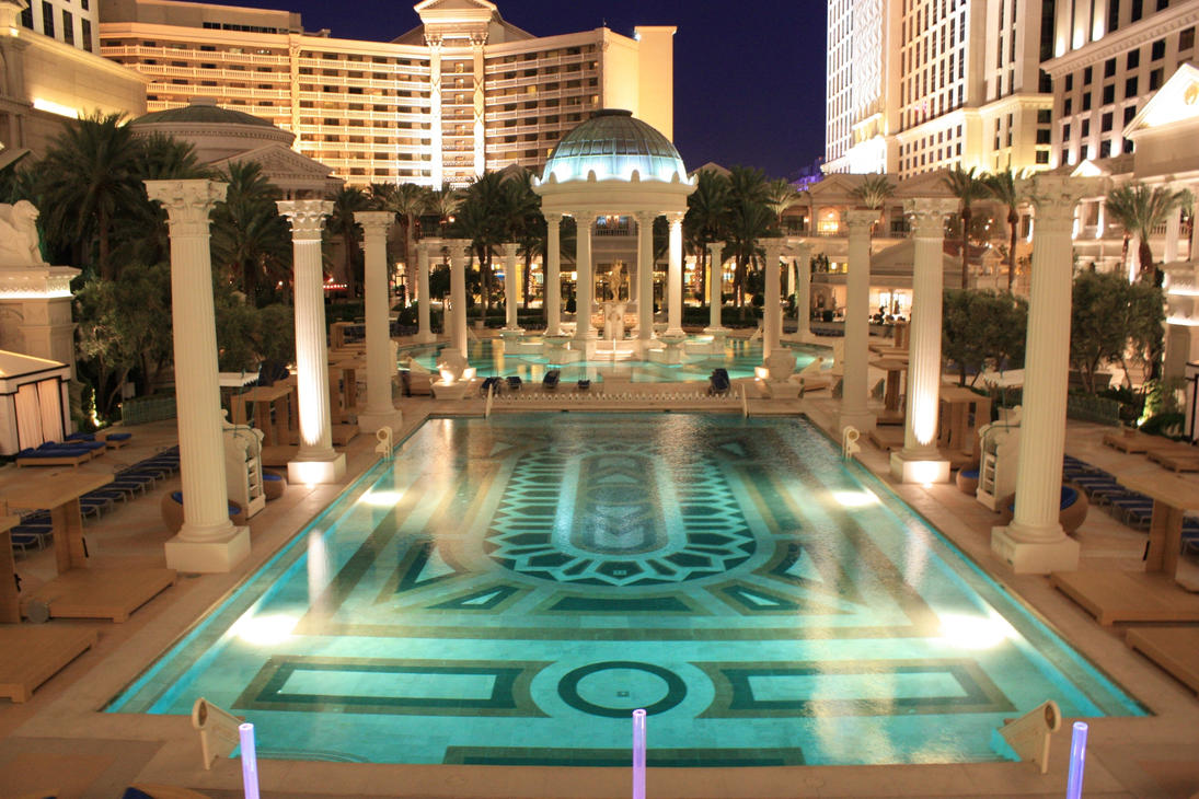 Caesars Palace Pool Photos images.