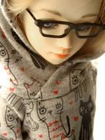kitty hoodie by glasschild