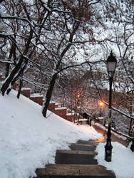 Snowy Budapest