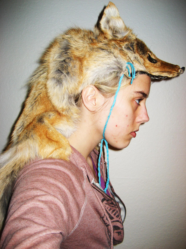 Coyote Head dress by CindarellaPop