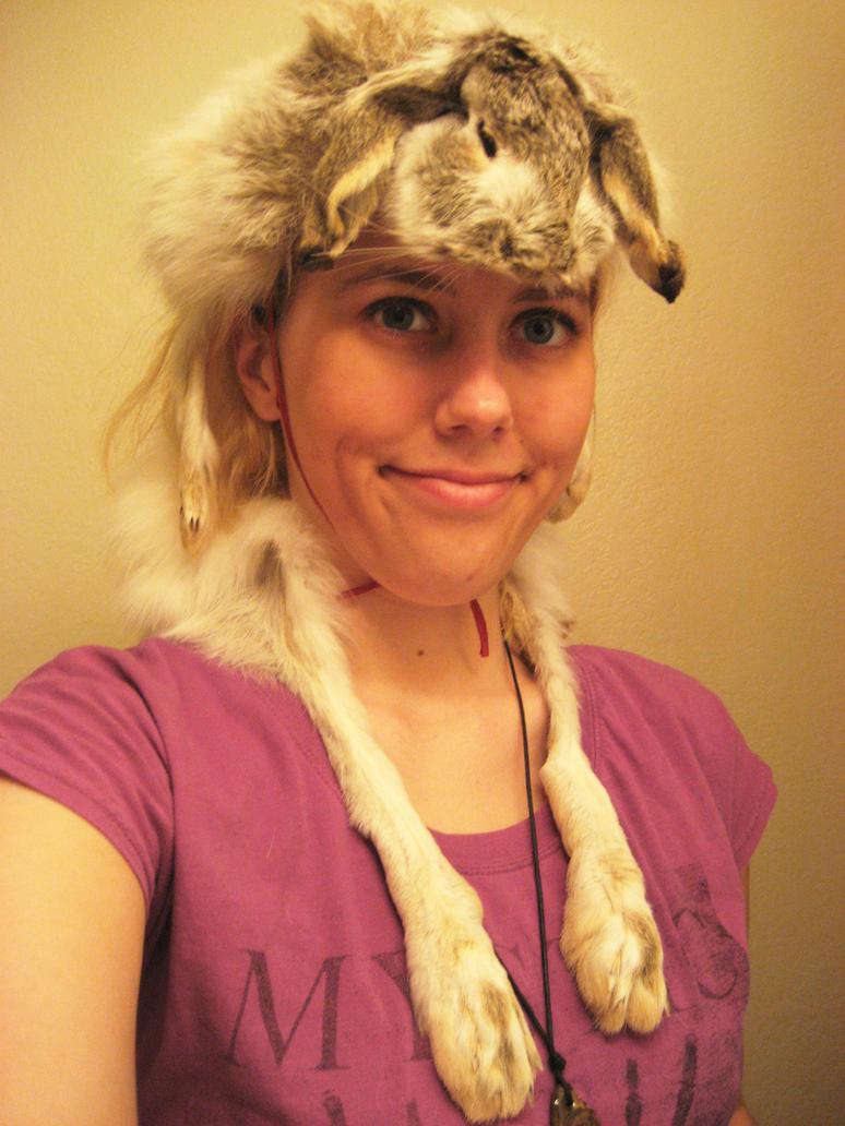 Jackrabbit head dress by CindarellaPop