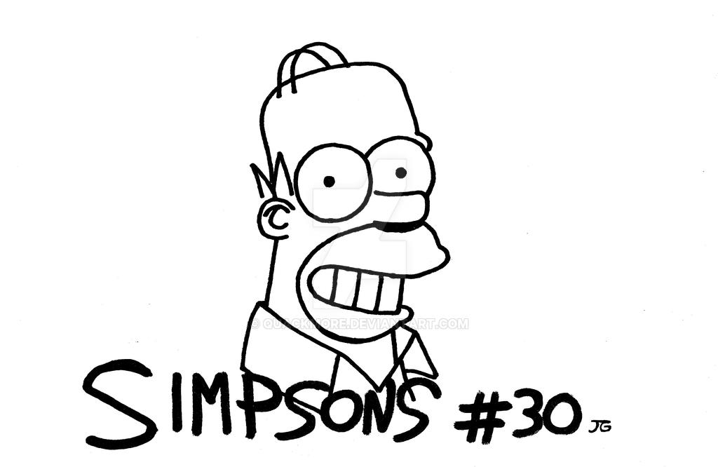 INKTOBER 2016: #30 SIMPSONS by Quackmore