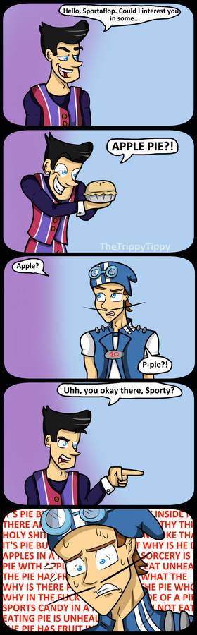 Sportacus And The Apple Pie