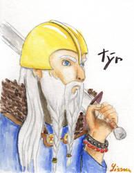 Viking God - Tyr by Lissou-drawing