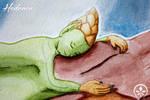 Sleeping hedrae by Lissou-drawing
