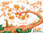 Hedraen preview - Autumn by Lissou-drawing