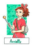 Six Fanarts Challenge - 3/6 - Arrietty by Lissou-drawing
