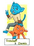 Six Fanarts Challenge - 4/6 - Gumball and Darwin by Lissou-drawing