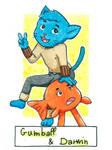 Six Fanarts Challenge - 4/6 - Gumball and Darwin