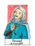 Six Fanarts Challenge - 5/6 - Perceval by Lissou-drawing